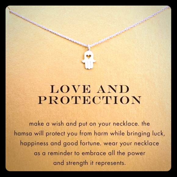 Hamsa Hand Necklace Love Protection Gift Peace Boutique